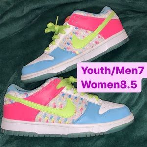 Nike Dunk Low Women's size 8.5 Easter pastel candy Pro